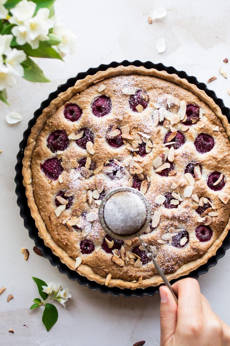 vegan raspberry bakewell tart icing
