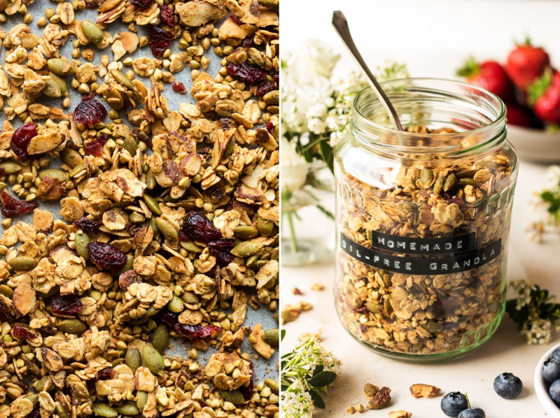oil-free granola jar