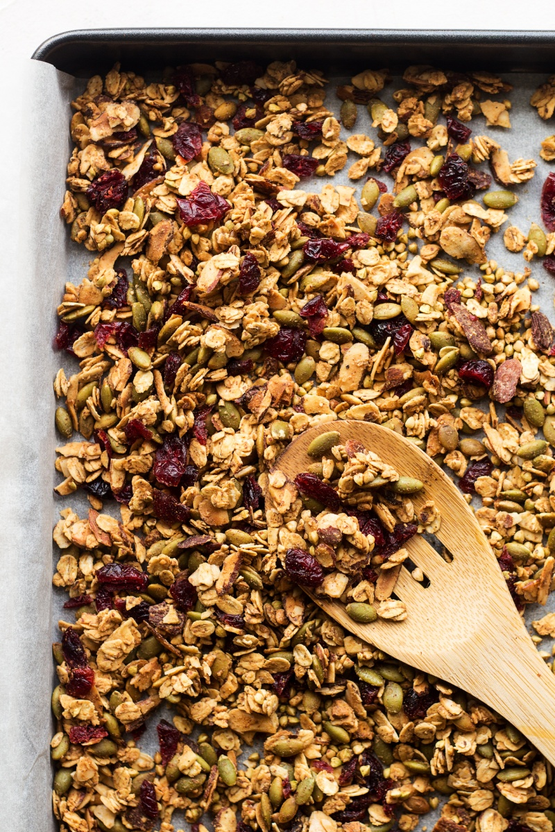 oil-free granola tray