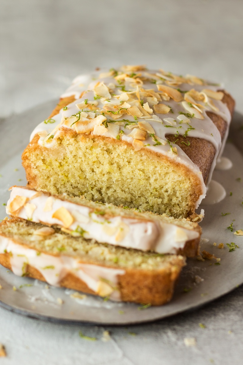 lime drizzle cake icing drips