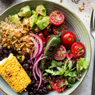 mexican lunch bowl macro