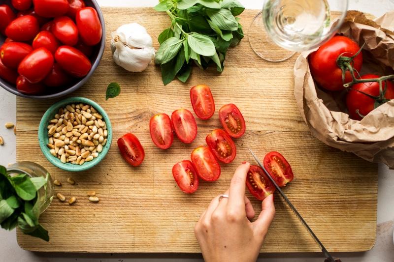 roasted tomato pasta prep