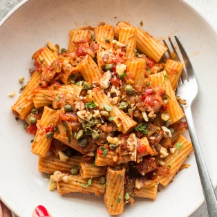 zucchini bolognese portion