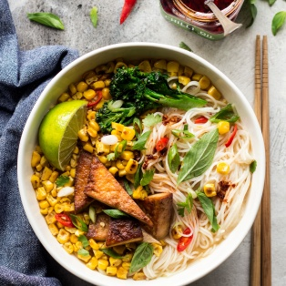 corn miso soup bowl