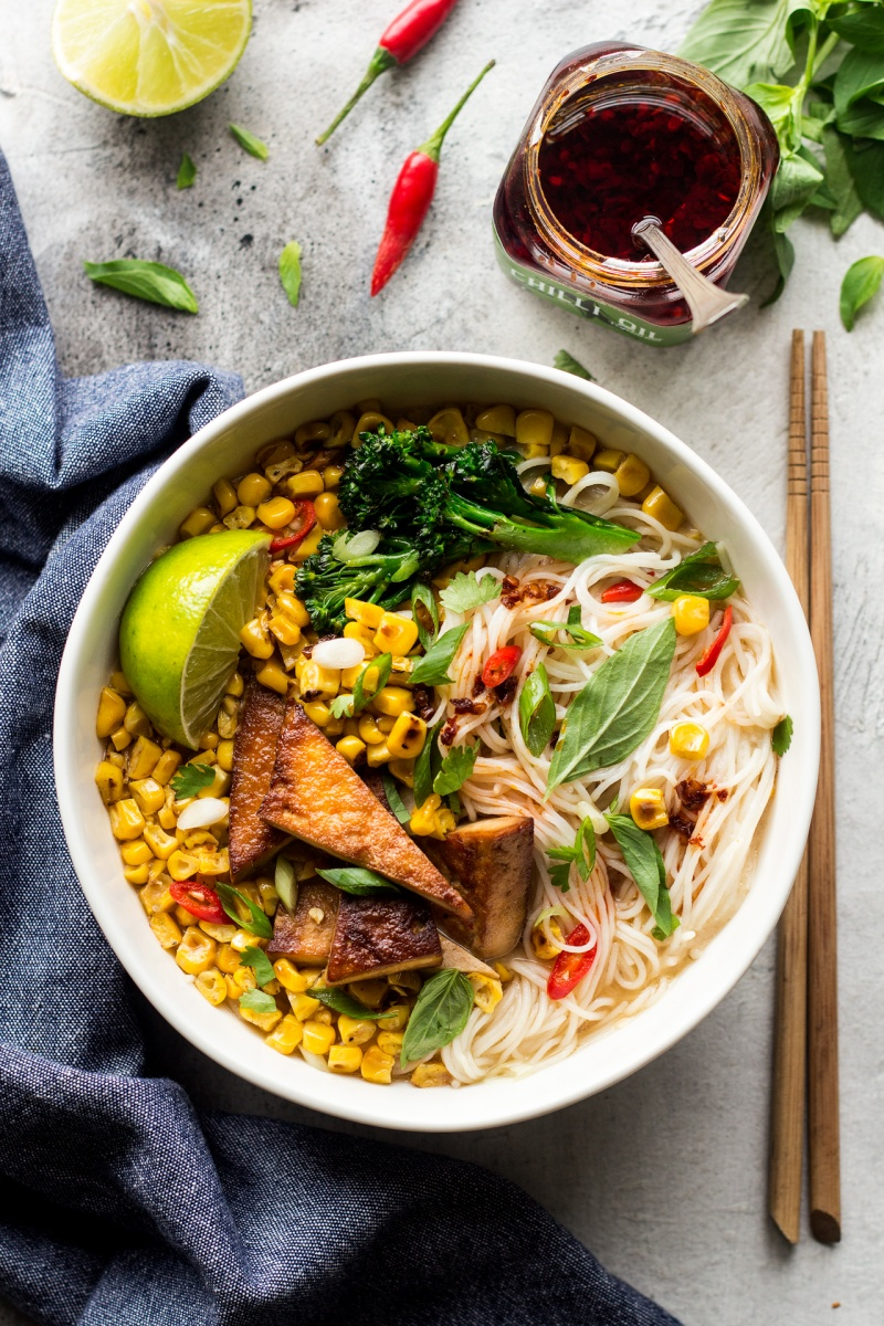 miso corn soup bowl
