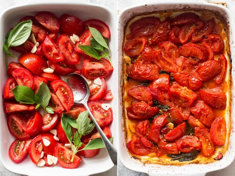 pappa al pomodoro roasting tomatoes