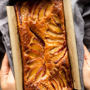spiced plum loaf baked