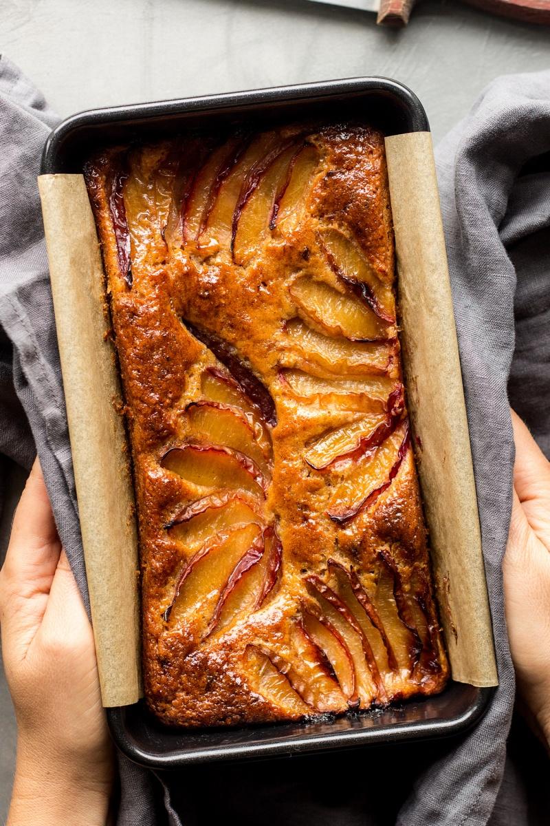 spiced plum loaf baked
