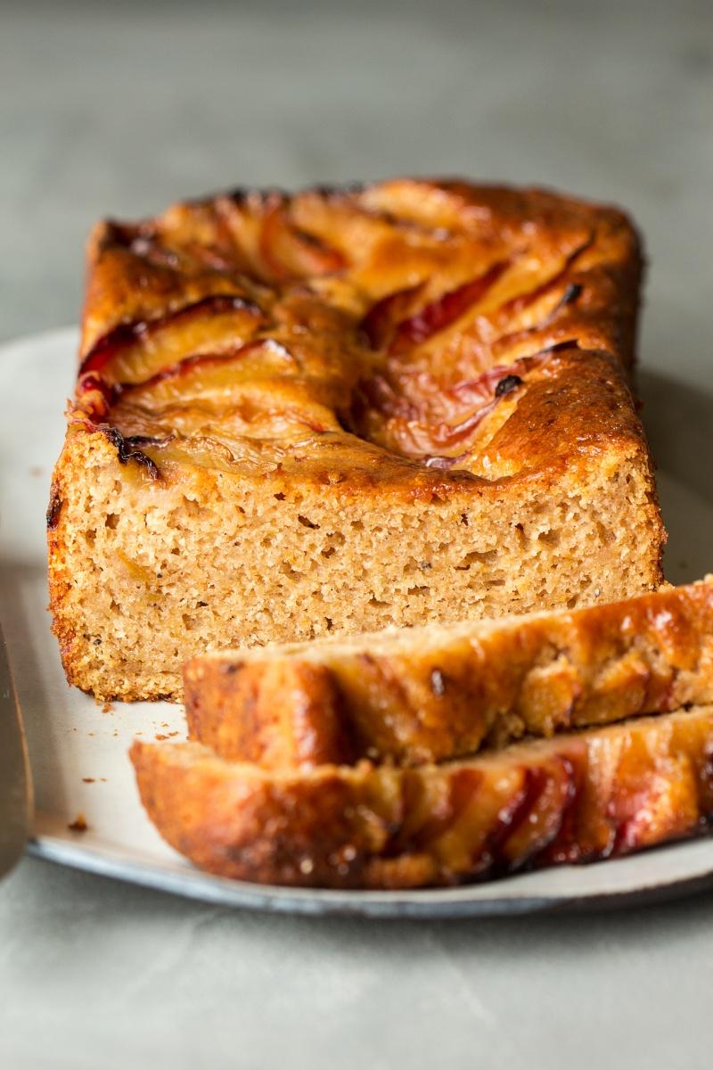spiced plum loaf side on