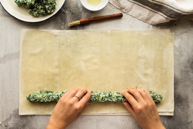 vegan spanakopita filling pastry