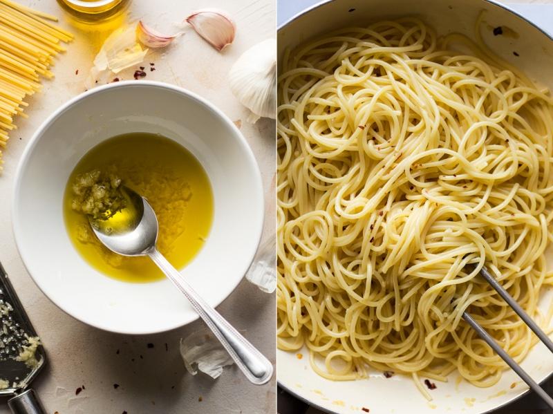 spaghetti aglio e olio sauce
