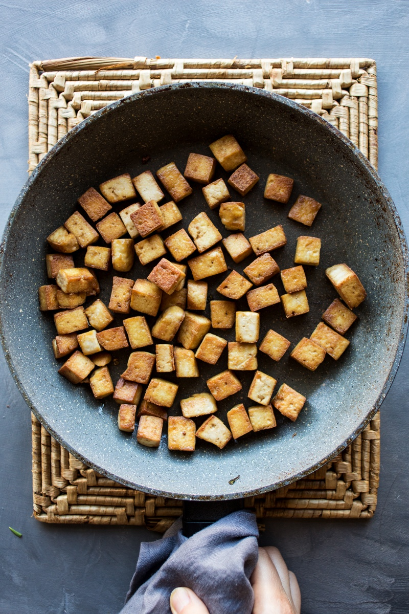 vegan fried rice tofu fried