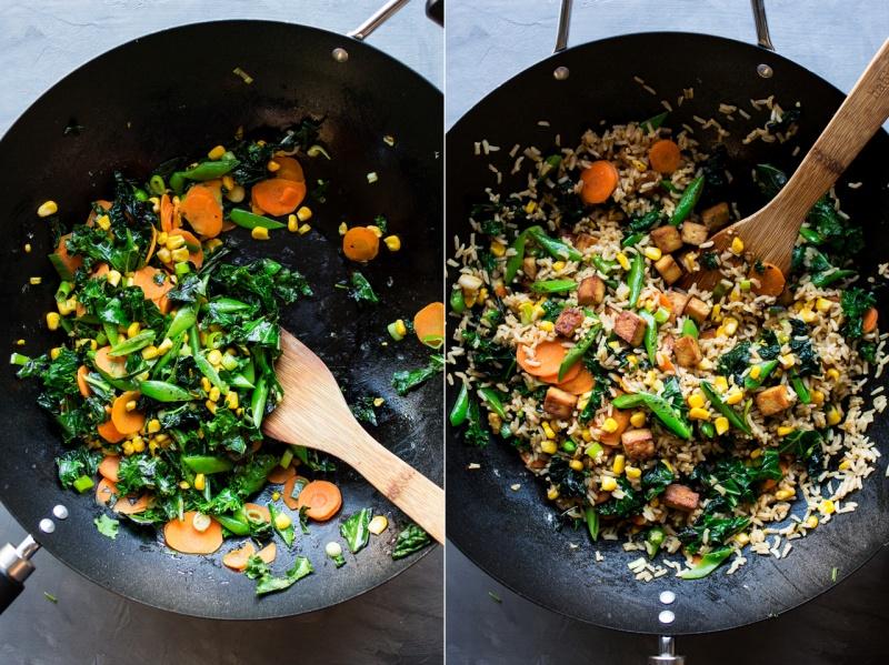 vegan fried rice wok