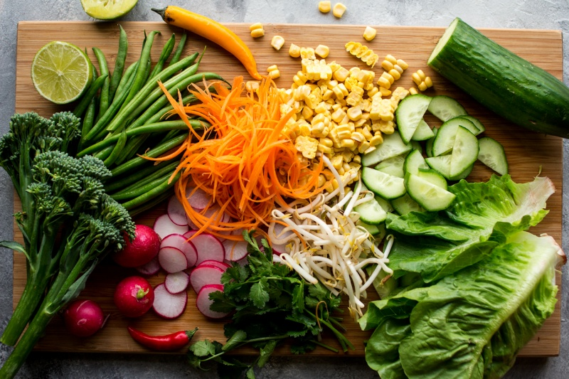 vegan gado gado salad tempeh ingredients