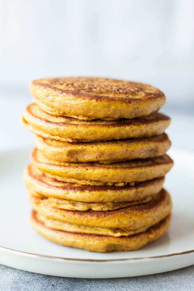vegan pumpkin pancakes naked