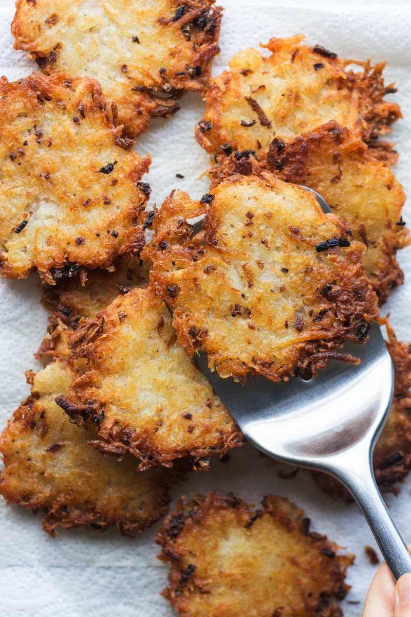 eggless latkes fried