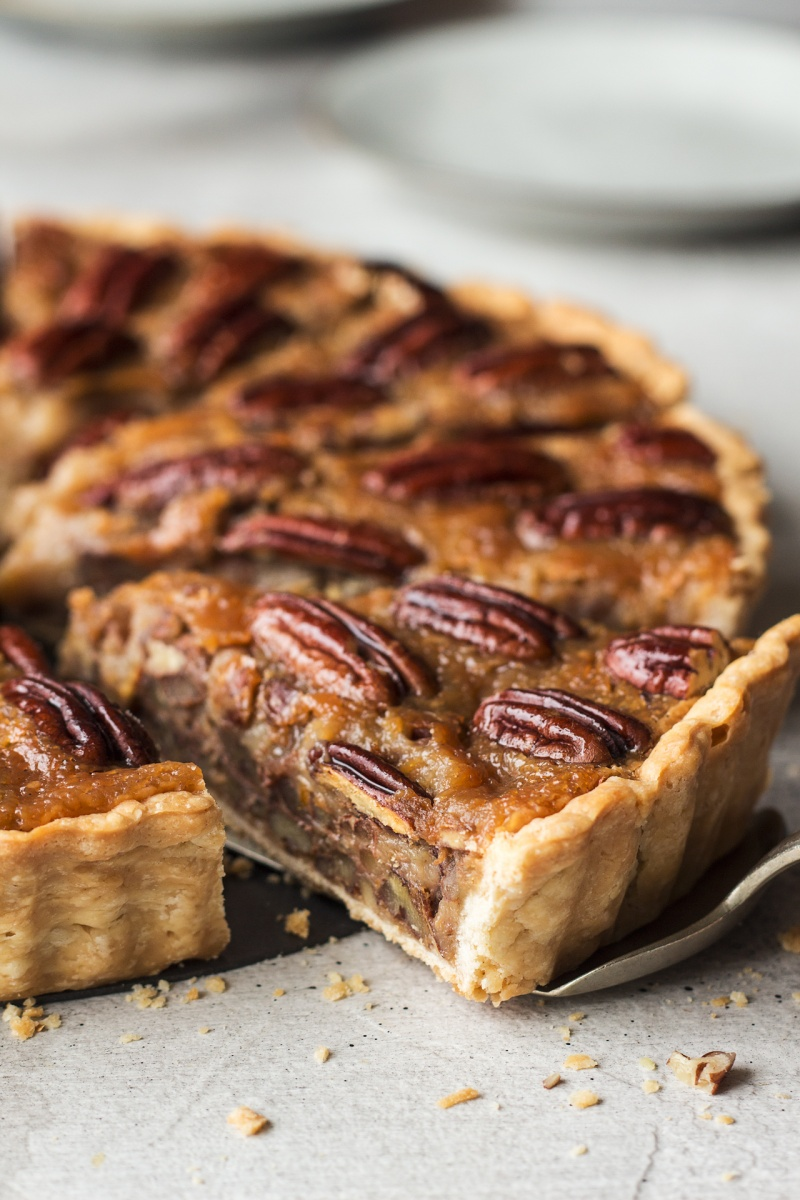 vegan pecan pie side