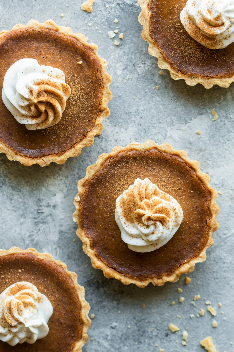 vegan pumpkin pie top down