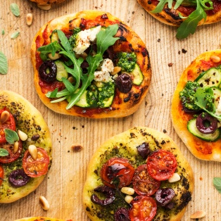mini vegan pizzas macro