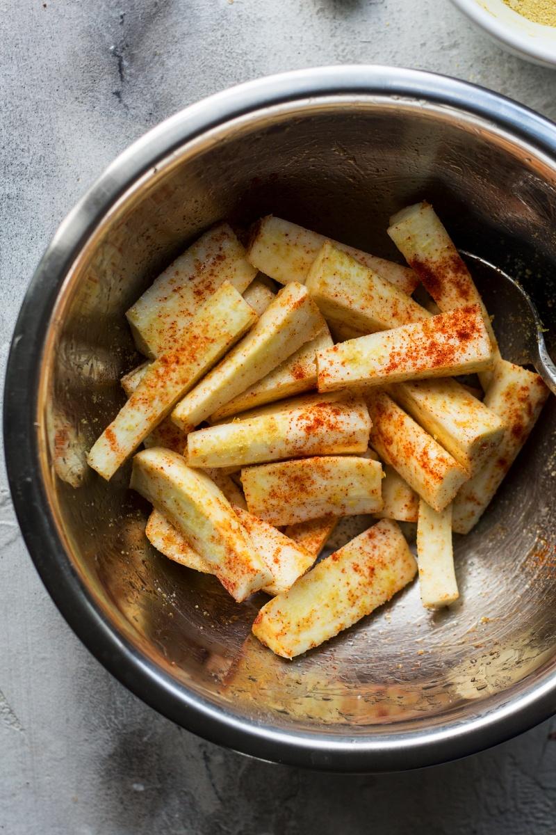 vegan parmesan parsnips seasoning