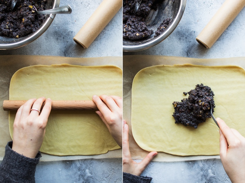 vegan poppy seed roll process