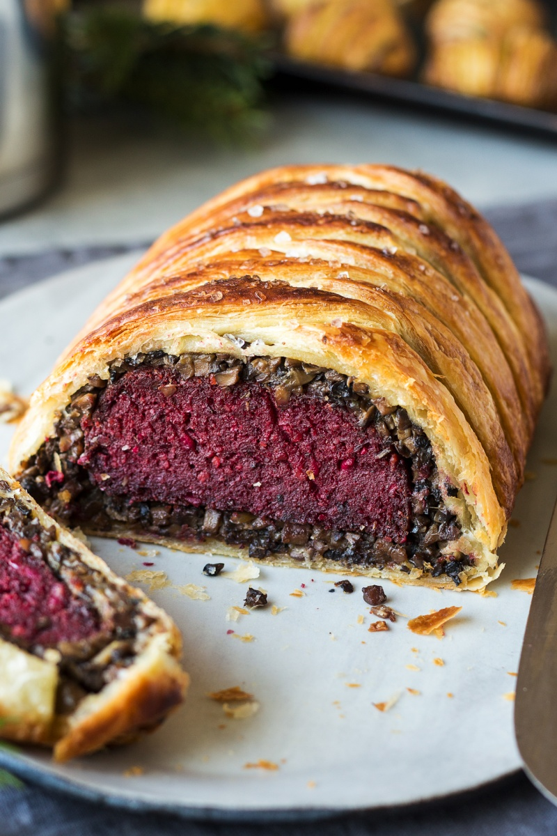 vegan wellington cross section