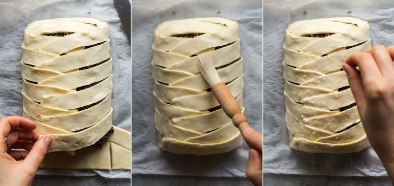 vegan wellington pastry work