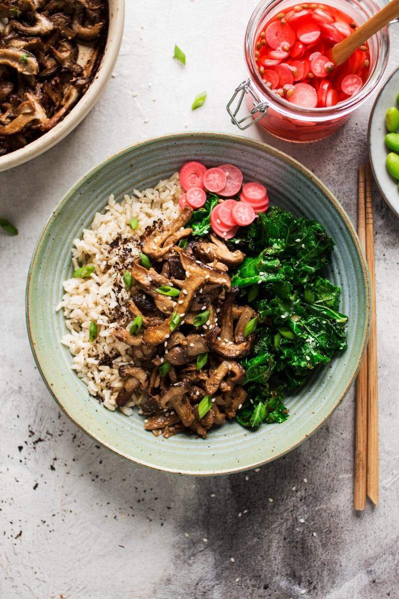 miso mushroom bowl