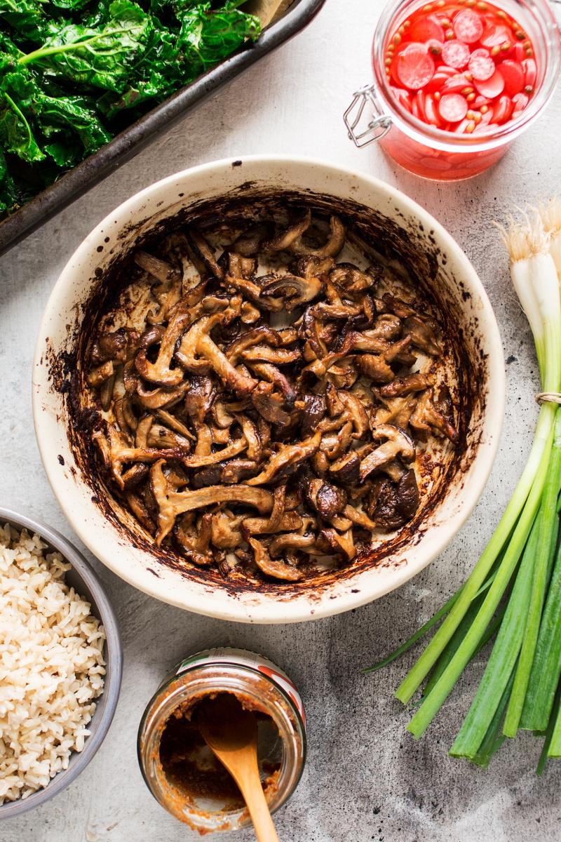 miso mushroom bowl ingredients