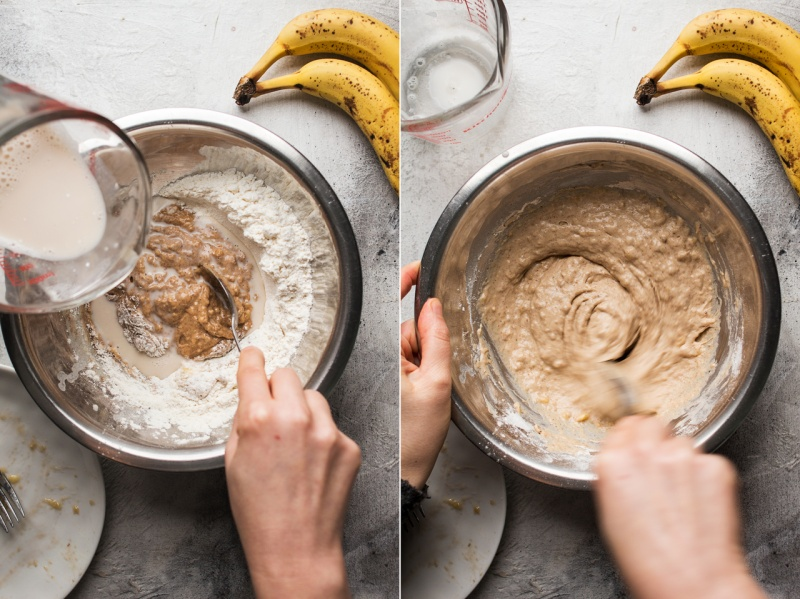 vegan banana pancakes batter