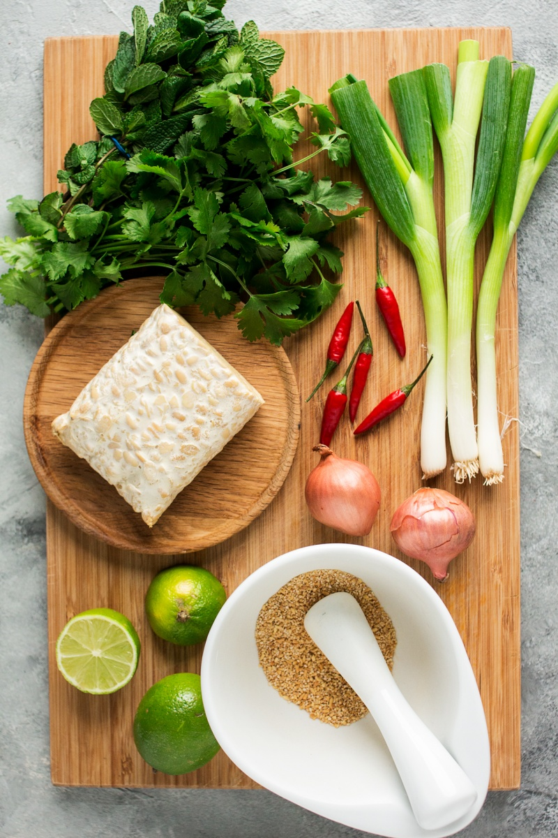 vegan larb ingredients