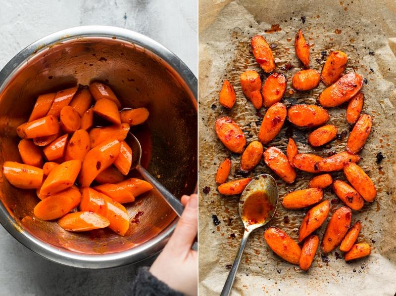 winter vegan bowl carrots