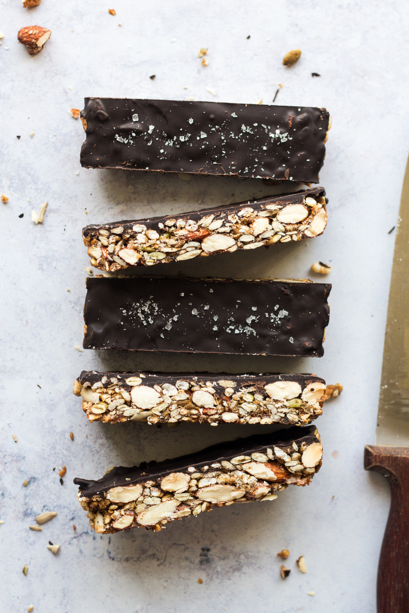 chocolate nut bars marble