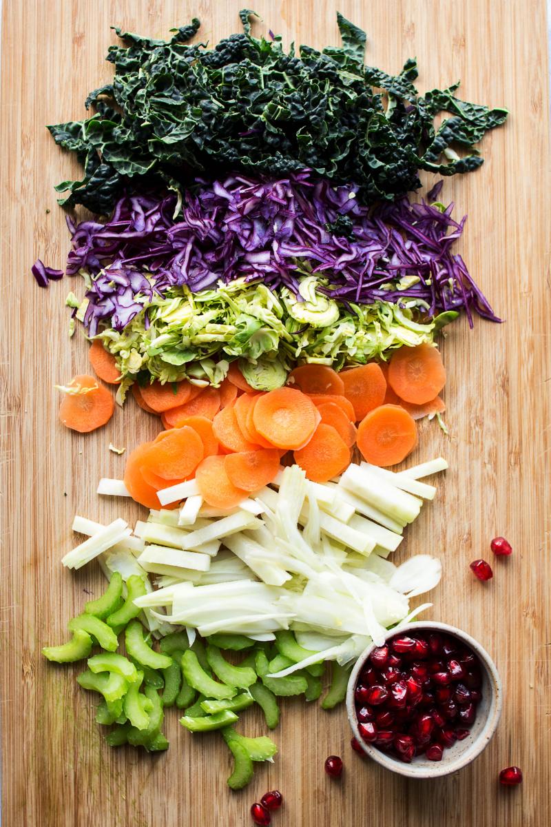winter slaw ingredients chopped