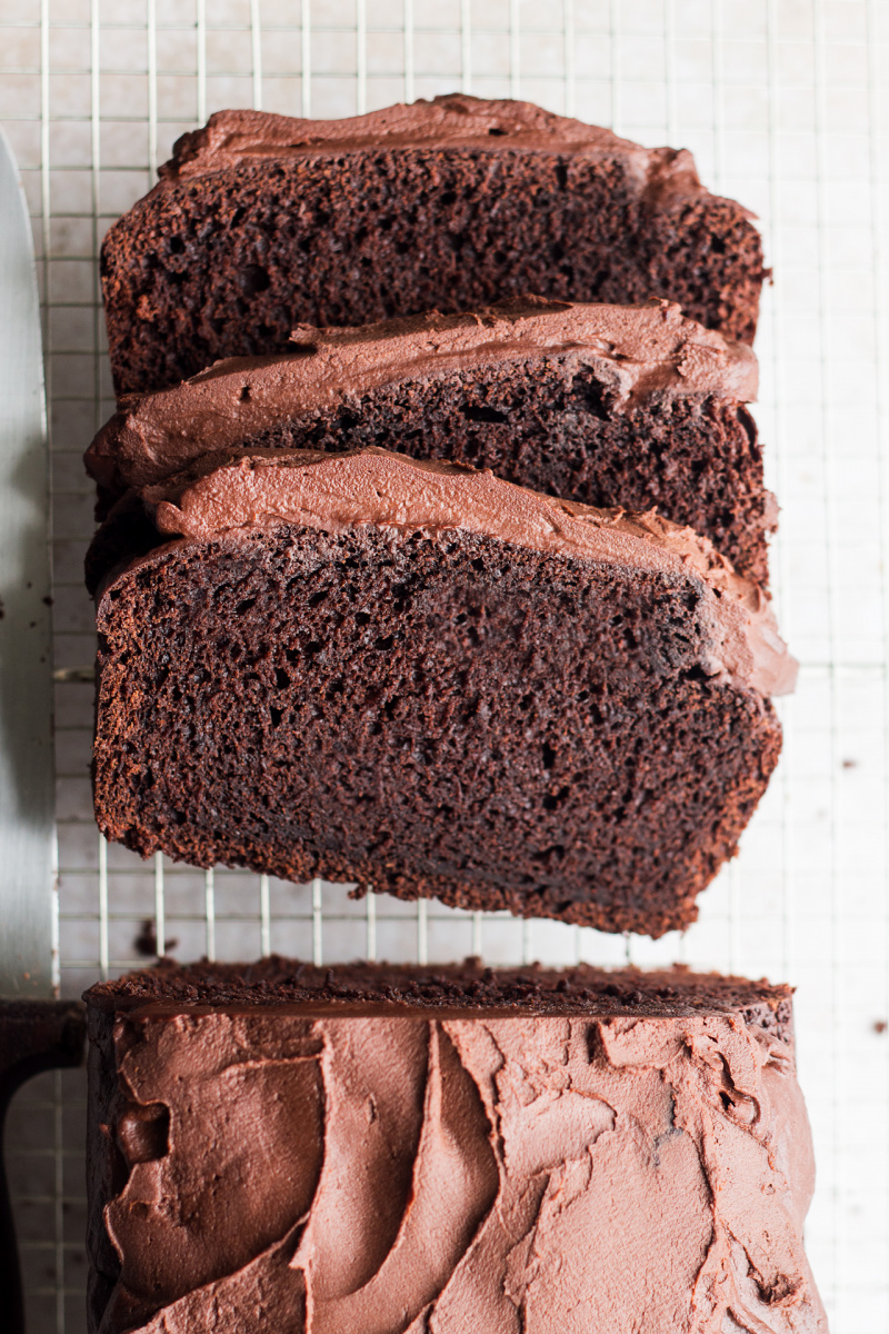 sweet potato chocolate cake slices