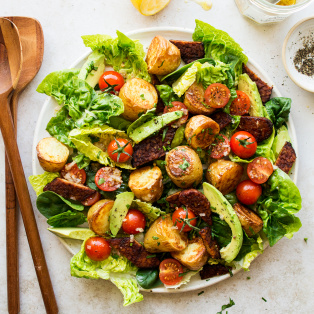 vegan BLT salad