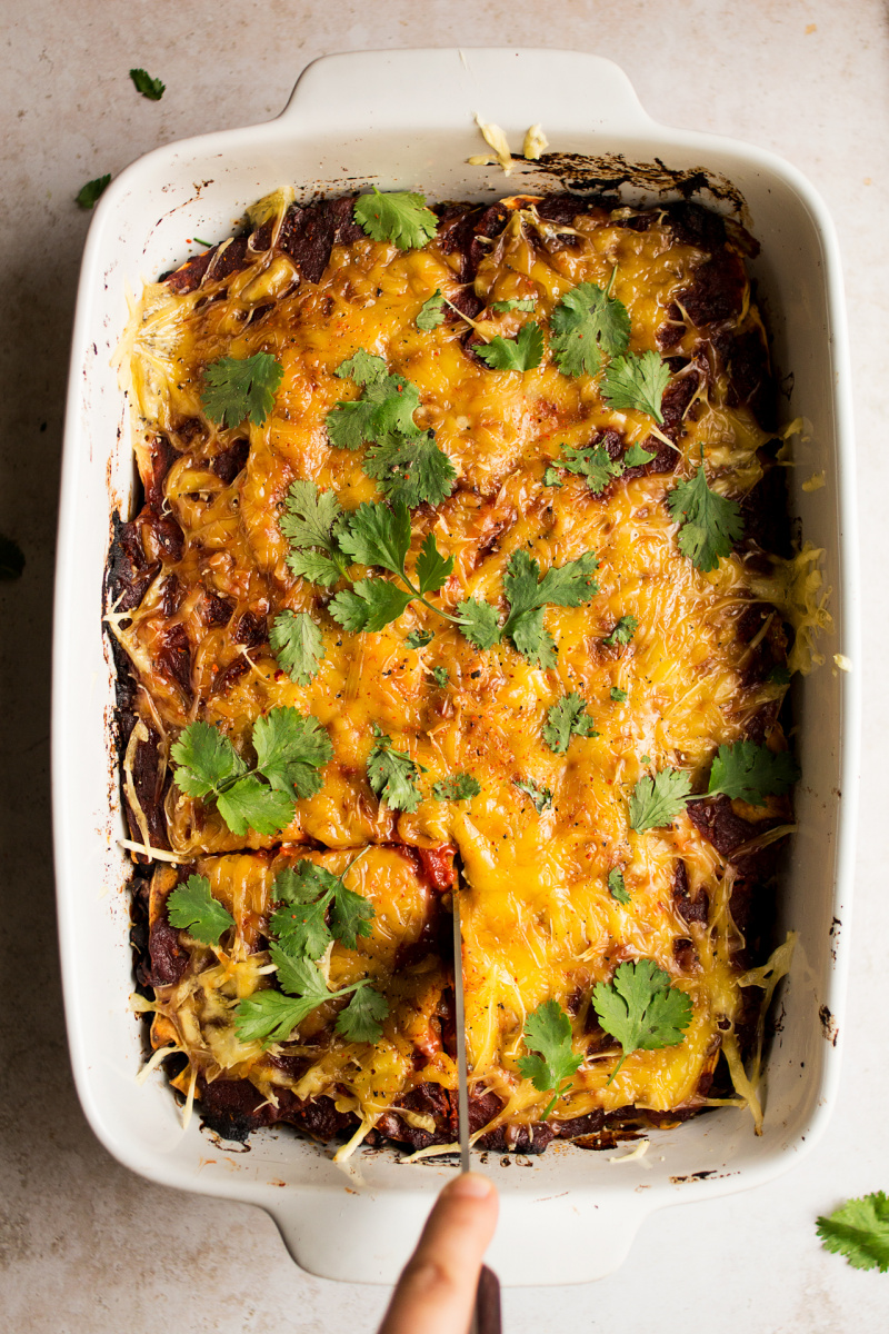 sweet potato black bean bake baked