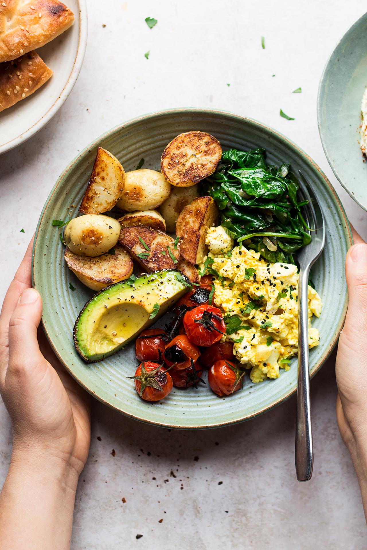 Savoury Vegan Breakfast Bowl Lazy Cat Kitchen