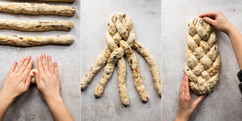 vegan challah process