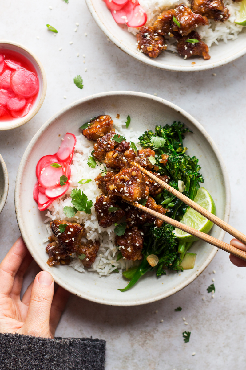 fried tempeh bowls