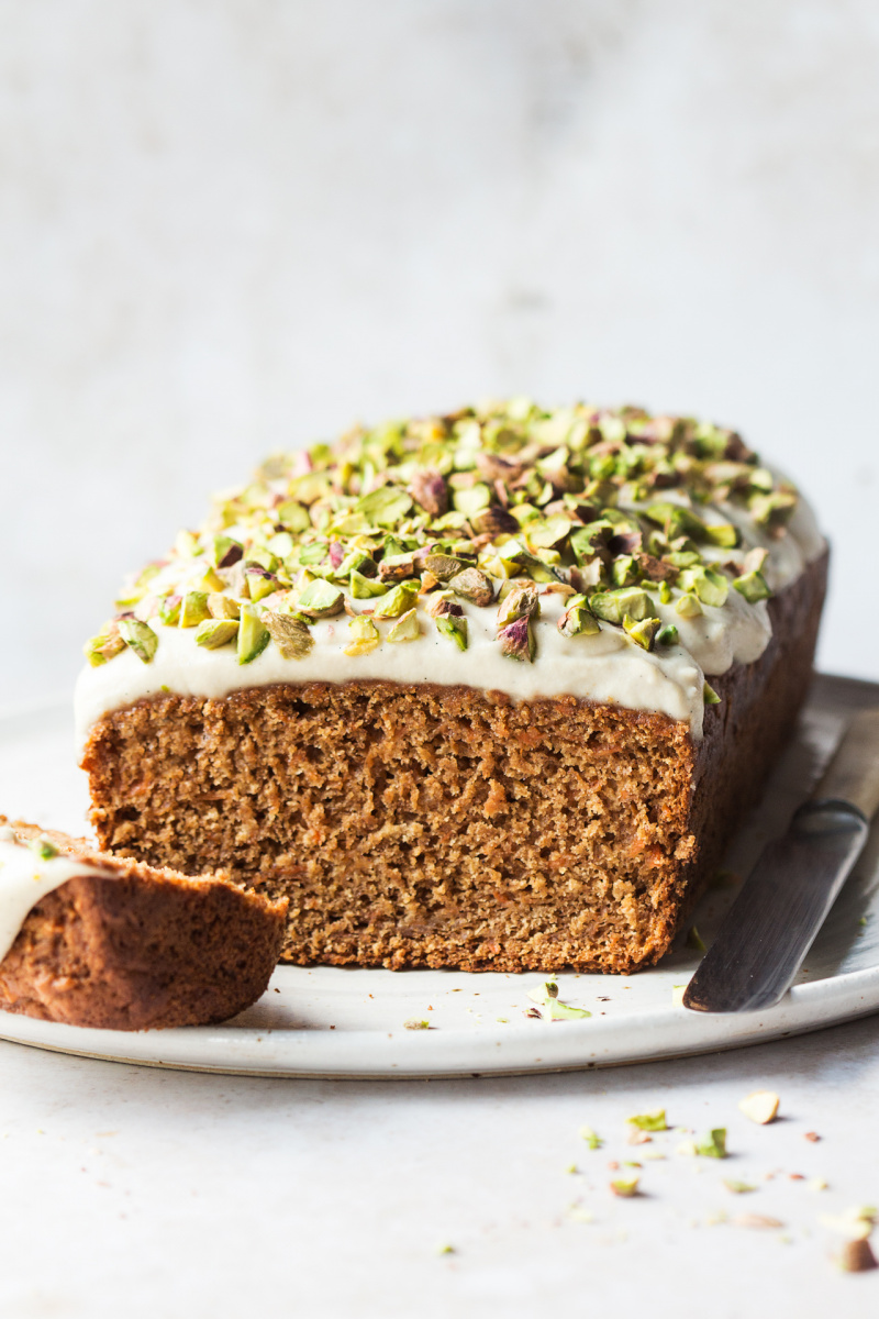 healthy carrot cake cross section