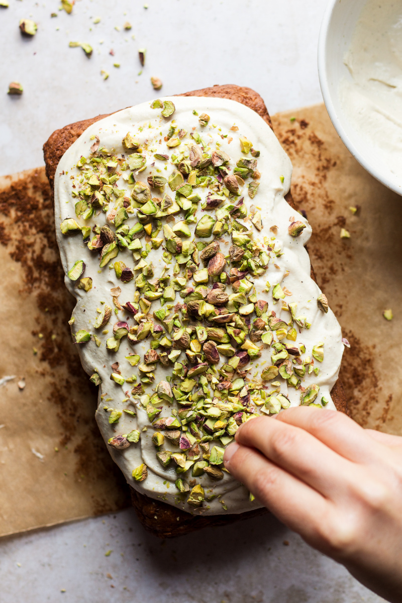 healthy carrot cake pistachios