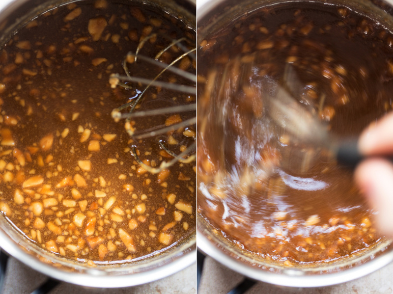 peanut butter caramel making