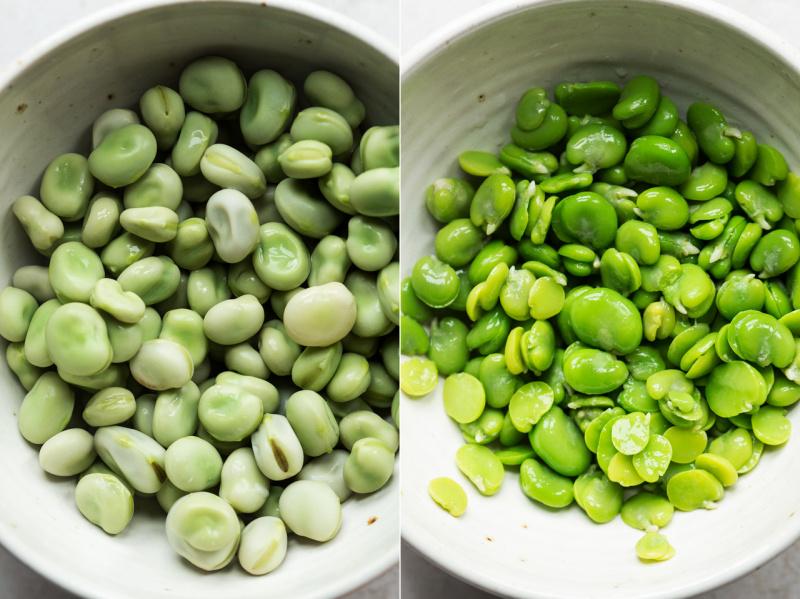 broad bean dip broad beans shelled