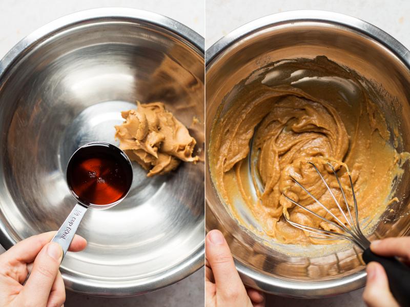 peanut butter sandwich cookies making