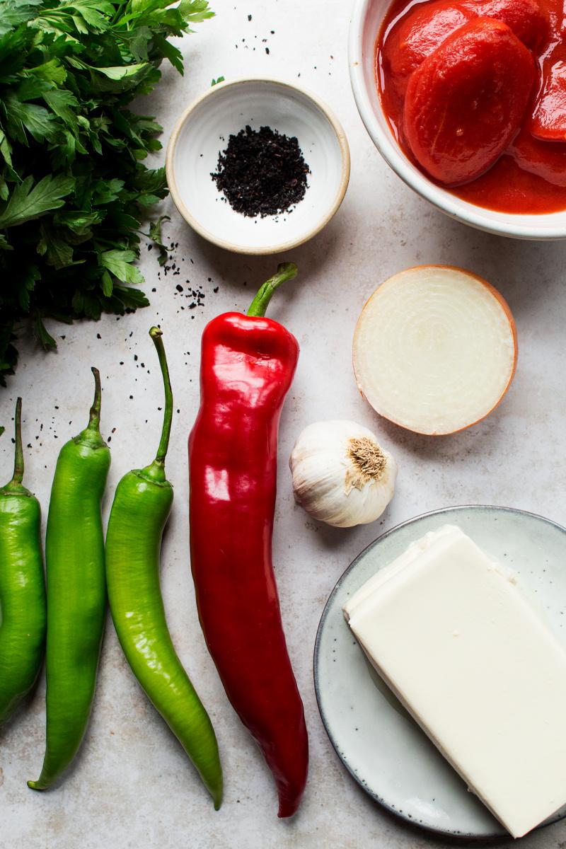 vegan menemen ingredients