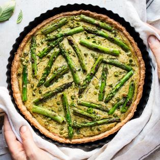 vegan quiche asparagus baked