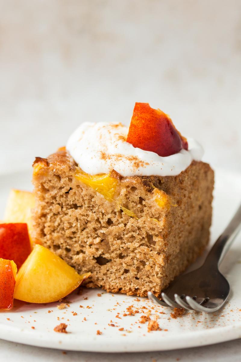 vegan almond cake portion
