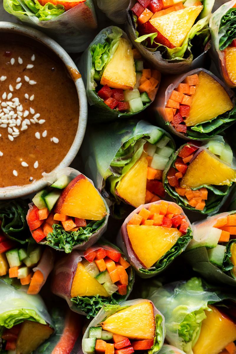 vegan summer rolls macro