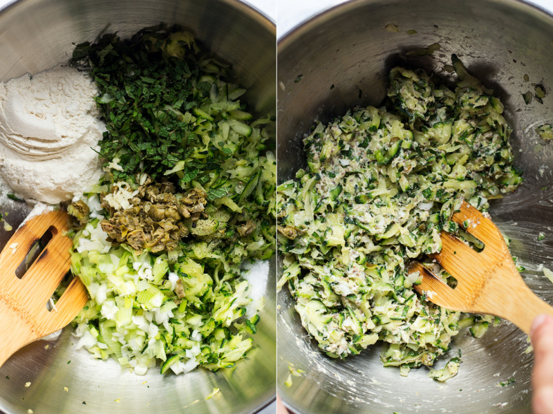 vegan courgette fritters batter